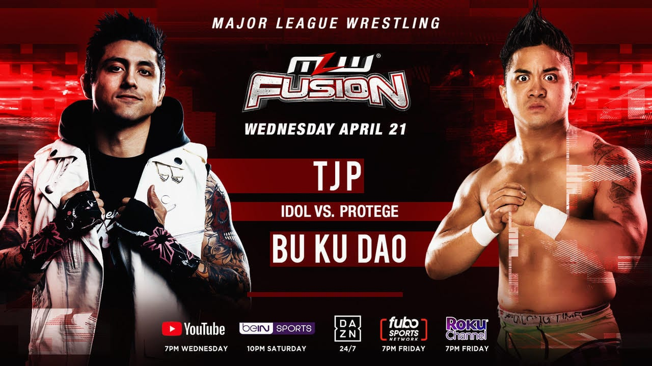 MLW Fusion TJP vs. Bu Ku Dao title card