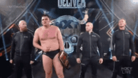 WALTER and Imperium stand tall on the set of NXT TakeOver: Stand & Deliver