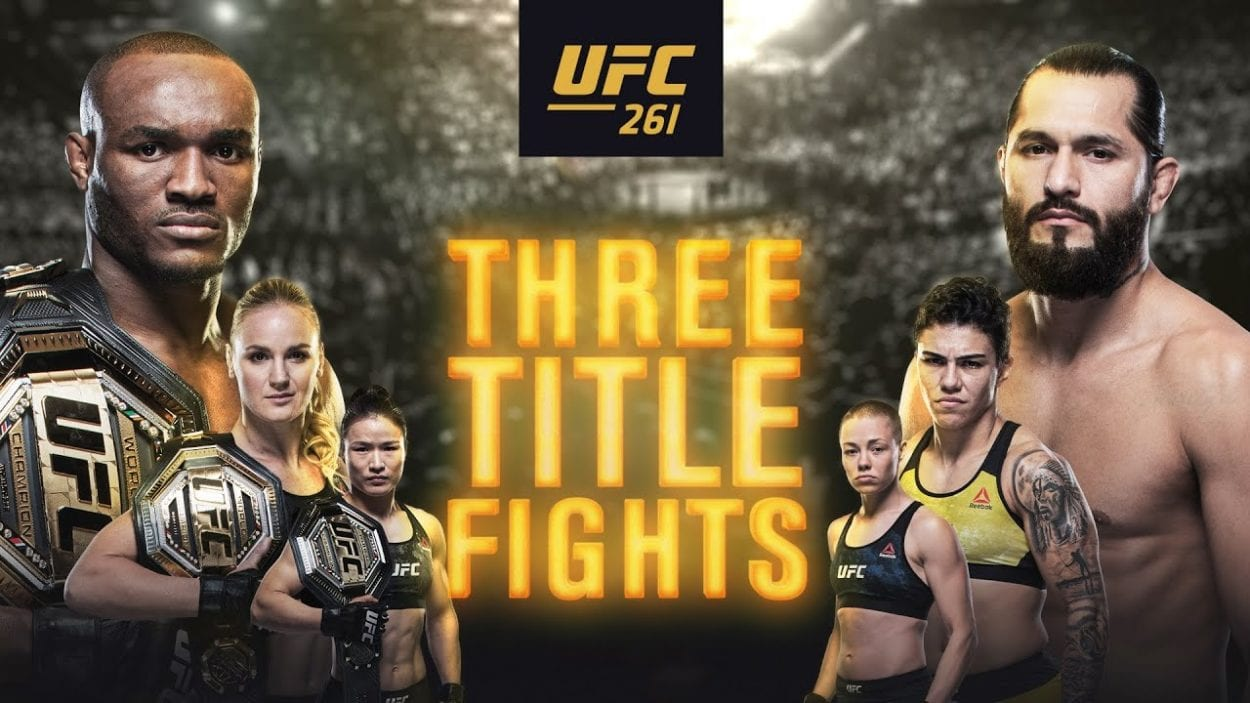 UFC Three Title Fights title card