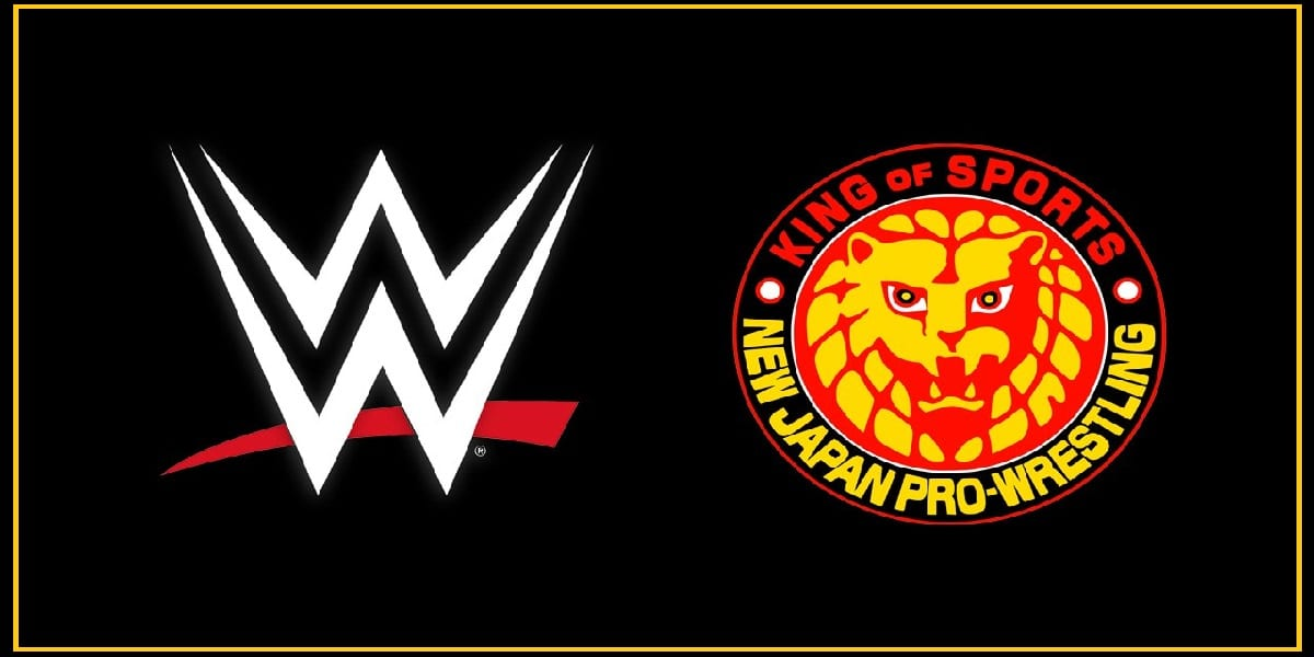 The WWE and New Japan Pro Wrestling logos