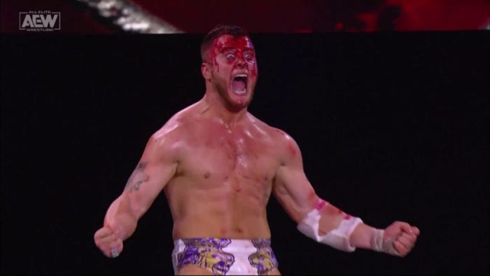 MJF screams at the end of Blood & Guts