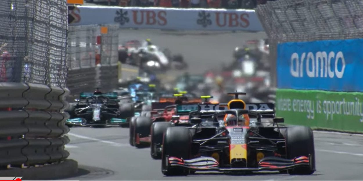 The cars go for it at the Monaco race