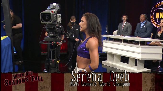 Serena Deeb makes her entrance at When Our Shadows Fall