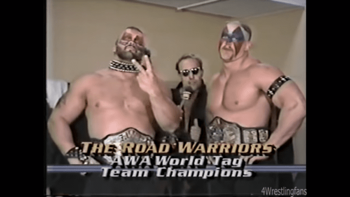 The Road Warriors and Paul Ellering lay down the law