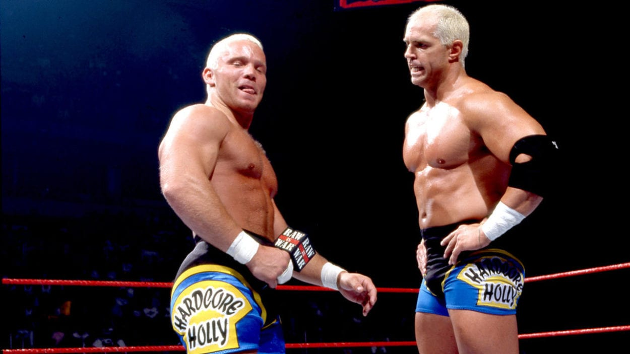 Crash Holly has some words to say to Hardcore Holly