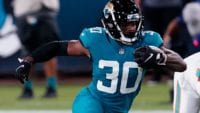 James Robinson rushes for the Jags