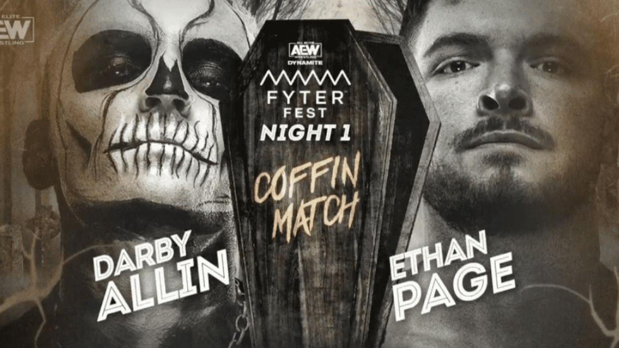 Darby Allin-Ethan Page Coffin Match Title Card