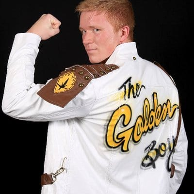 The Golden Boy is ready for action!