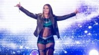 Tegan Nox makes an entrance as the pyro explodes around her