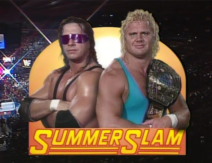 Bret Hart vs. Mr Perfect title card from SummerSlam 1991