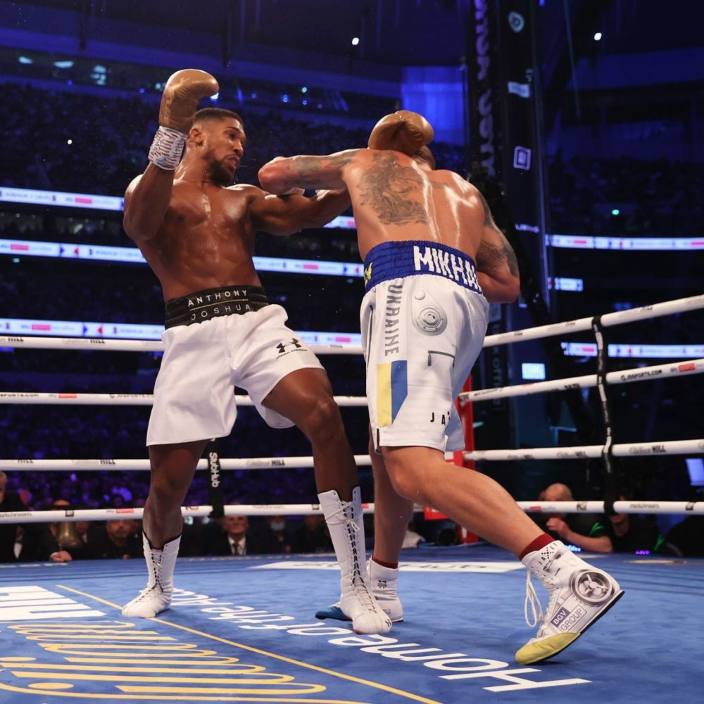 Action From The Joshua v Usyk Fight