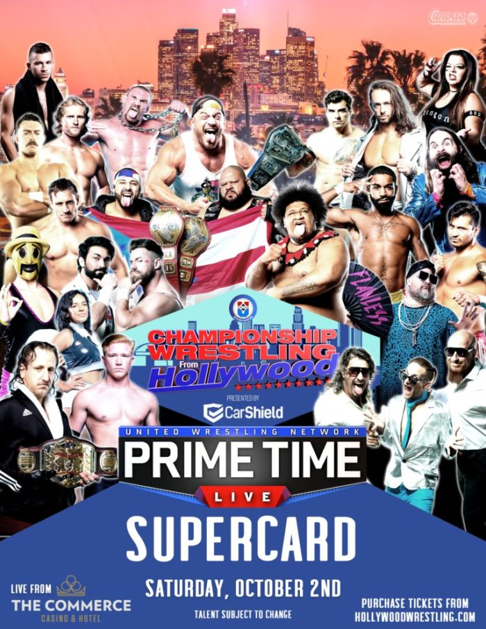 Championship Wrestling from Hollywood/Prime Time Live Supercard promotional poster
