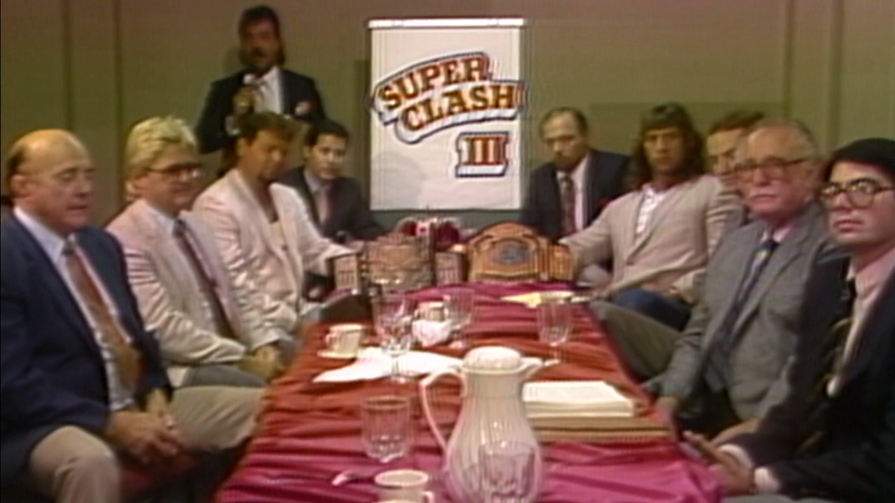 The Press Conference for AWA Superclash III does not look friendly...