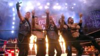The Inner Circle give the finger as a faction to The Pinnacle at AEW Double or Nothing