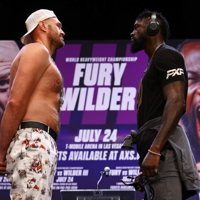 Fury And Wilder Face Each Other