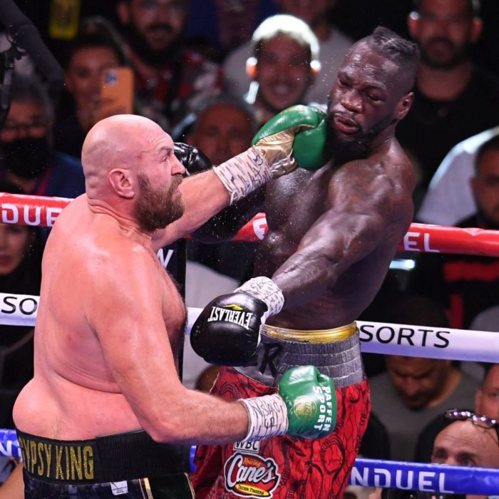 Fury And Wilder Trade Punches