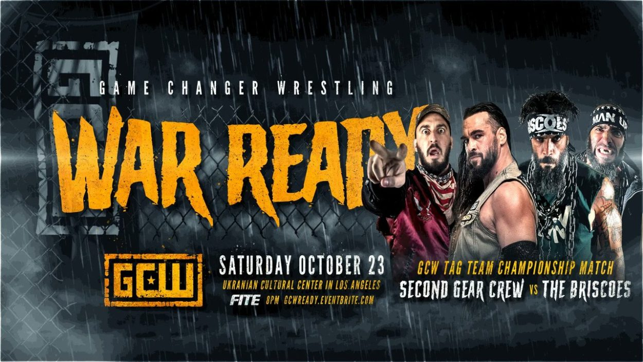A GCW War Ready graphic showing The Briscoes and Second Gear Crew